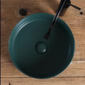 墨綠色圓型坐枱面盆 (WB075G)