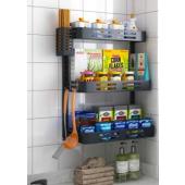 廚房黑色掛牆三層置物架(BT2340)