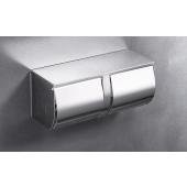 不銹鋼亮銀色雙廁紙架(WB55)