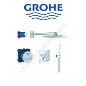 Grohe入牆式方形恆溫淋浴套裝(34706)